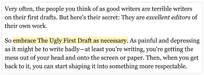 ann handley ugly first draft