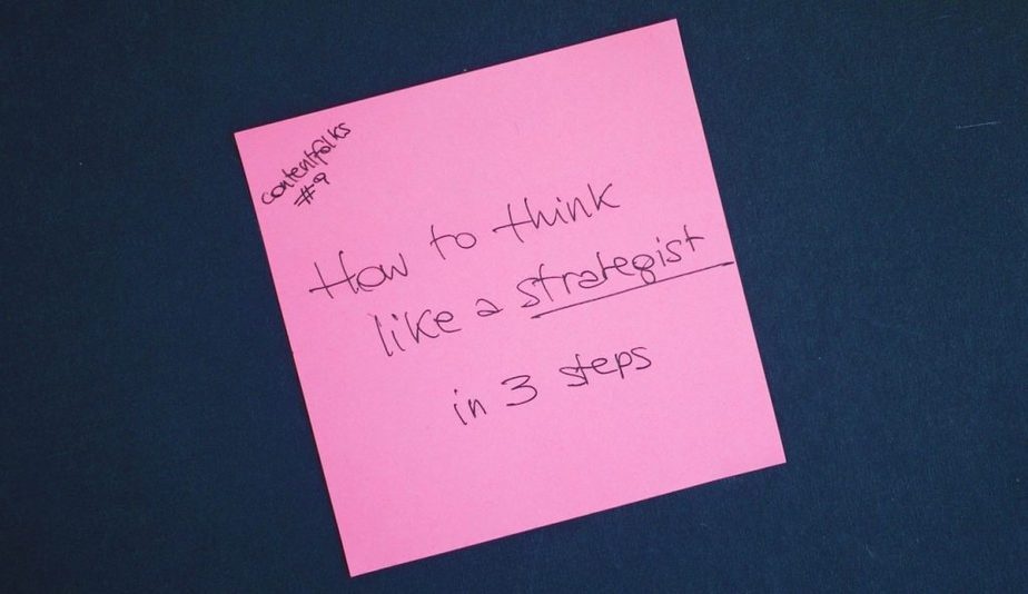contentfolks think like a strategist