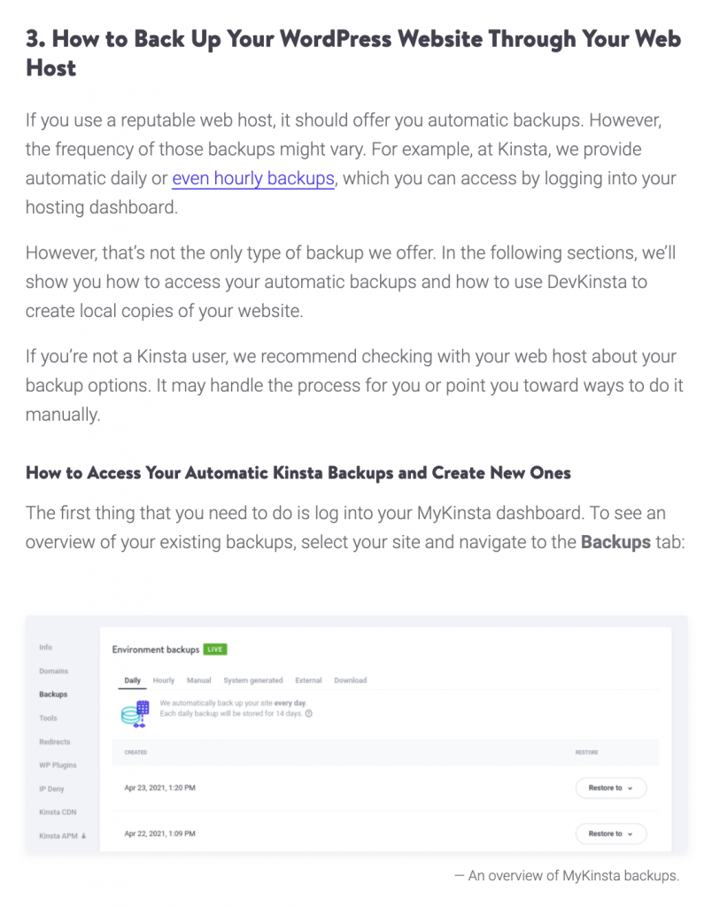 kinsta product led content