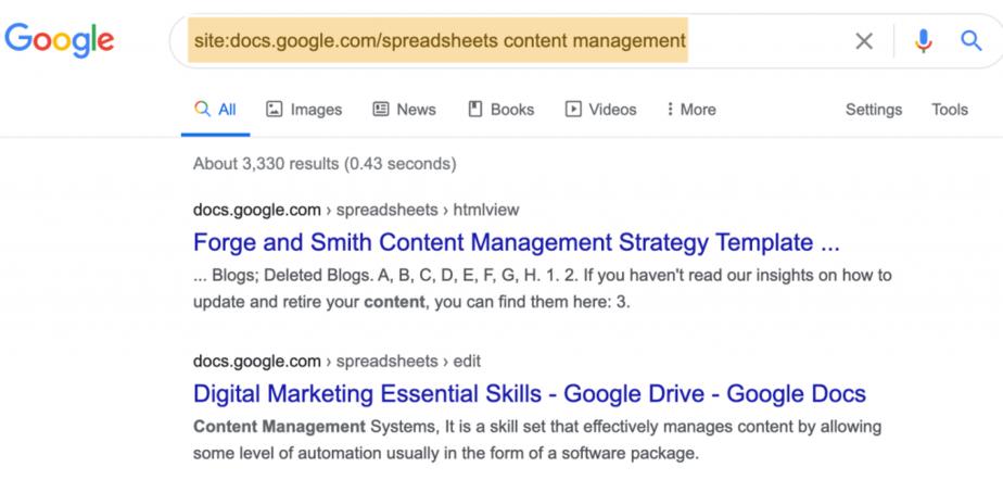site docs search